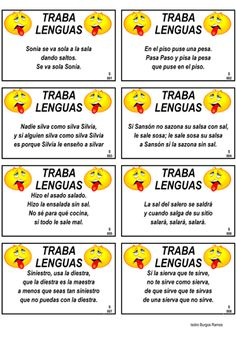 education - tongue twisters will help second language speakers practice their verbal and oral proficiency skills Pronunciation and precision are important for a language learner trabalenguas tonguetwister wordgames secondlanguage spanishteacher spanishga Spanish Classroom Activities, Spanish Teaching Resources, Spanish Language Learning, Elementary Spanish, Ap Spanish, Spanish Words, Speak Spanish, Spanish Worksheets, Spanish Vocabulary
