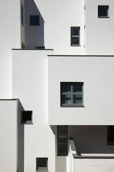 black and white, photography, architecture, building, windows Minimal Architecture, Facade Architecture, Installation Architecture, Architecture Wallpaper, Contemporary Architecture, Minimalist Photography, White Photography, White Aesthetic, Aesthetic Wallpapers