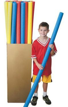 """Recently, we've had several inquiries at PE Central asking, """"As a physical education teacher, how can I use soft swim pool noodles appropriately in my"""