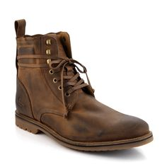 Men's Mid Brown Leather Boots C6806