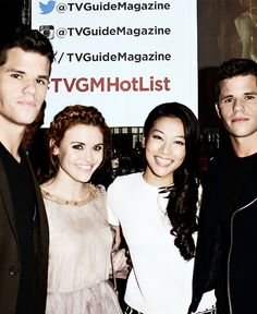 Max Carver, Holland Roden, Arden Cho and Charlie Carver