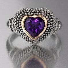 Amethyst and Silver.