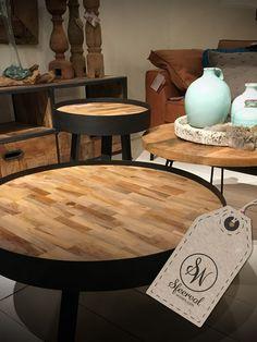 Stel je eigen set samen. Met deze leuke salontafels #sfeervolwonen #byboo #salontafels #maatwerk #teak #ptmd