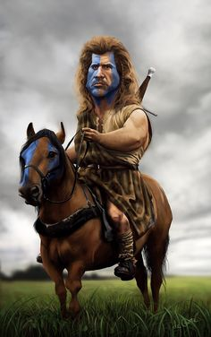 Mel Gibson (Braveheart) by Ryandc http://dunway.us