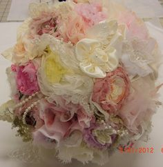Bridal Bouquet Vintage Wedding Shabby Chic by AliceSiouxBridal, $300.00