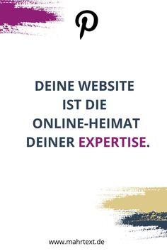 Deine Website ist der ideale Platz, um online deine Expertise zu zeigen. Lies hier, warum du unbedingt eine Website brauchst. Website Templates, Im Online, Affiliate Marketing, Content Marketing, Social Bookmarking, Website Design, Online Business, Facebook, Easy