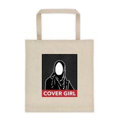 8151a83614dc Ramadan Gift Eid Muslim Islamic COVER GIRL Hijabi Hijab Woman Scarf large  tote BAG canvas tote bag Islam Muslim Dress Bridal Shower Gift
