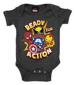 Marvel Comics Heroes Ready For Action Baby Creeper Romper Snapsuit Snapsuit Size: 0-6 Months Comic Heroes,http://www.amazon.com/dp/B00BI15YF6/ref=cm_sw_r_pi_dp_AOKLrbDE820F4CB3
