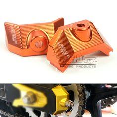 (Buy here: http://appdeal.ru/3cdn ) CA-KA002-OR New Arrival Motorcycle CNC Rear Fork Spindle Chain Adjuster Blocks Orange for Kawasaki Z800 2013 2014 2015 for just US $39.99