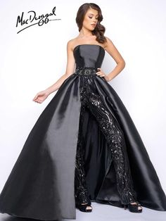 Check out the deal on Mac Duggal Prom 11039M Sequin Pants with Overskirt at French Novelty