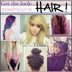 """""""Indie/hipster~ hair!"""" by hipstertipsters ❤ liked on Polyvore"""