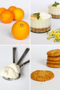 Orange & Ginger Biscuit Posset Verrines