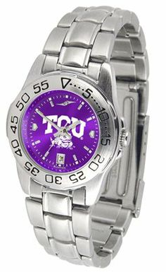 Texas Christian University Horned Frogs Sport Steel Band Ano-chrome - Ladies - Women's College Watches by Sports Memorabilia. $59.95. Makes a Great Gift!. Texas Christian University Horned Frogs Sport Steel Band Ano-chrome - Ladies