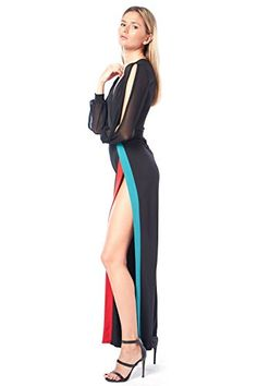 ca0591a873a edgelook Leg Line Showing Striped Slit Jumpsuit · Jumpsuit DressyMesh  JumpsuitStriped JumpsuitPrinted JumpsuitCatsuitFishnetWide Leg BodysuitJumpsuits