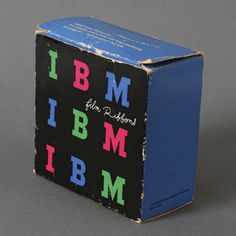 Absolutely had to share this beautiful example of 60′s IBM packaging courtesy of the master, Paul Rand. Javier Garcia unearthed this box of IBM film ribbons in his Dad's office apparently still wrapped and unused. Stunning colour and design.