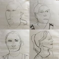 Art class tonight @ jenni.catt ! We drew each other as a contour drawing (not taking pencil off page) Sorry girls!! 5-10 minutes each. We have newfound appreciation of our models. #artclass #charcoaldrawing #portrait #portraitdrawing #contourdrawing #australianartist #midnorthcoast