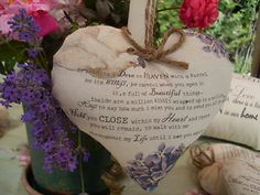 I am sending a dove to Heaven with as Parcel on its Wings Heart Hanger