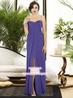 Sheath/Column Strapless Floor-length Bridesmaid Dress #USAFF342