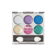 This mini palette features six bright glittery shades of eye glitz to create the perfect sparkly eye look. Makeup Kit For Kids, Kids Makeup, Little Girls Makeup, Claire's Makeup, Eyeshadow Set, Makeup Gift Sets, Unicorn Makeup, Toys For Girls, Bath And Body Works