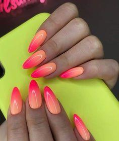 Neon Nails, Swag Nails, Pink Nails, My Nails, Long Nail Designs, Acrylic Nail Designs, Nail Art Designs, Nails Design, Cute Nails