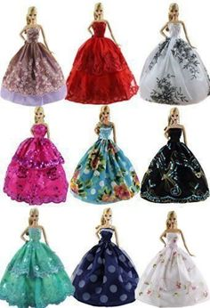 5 Pcs Doll Dress. Nice and lovely gift for your little girl. Fashion style and easy to wear. We are a professional foreign trade corporation in China,our products are in high quality and reasonable price. | eBay!