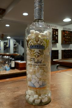 Marshmallow infused vodka, how have I never though of this before! Definitely have to try some soon, I think.  I wonder if it'd work with a packet of cake mix @elise Byth ?!?!?