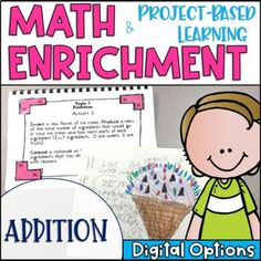 Math Enrichment and Project Based Learning for Addition   TpT