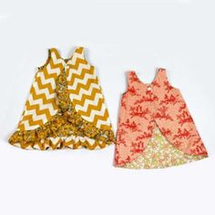 Pinafore Pattern Reversible Snap