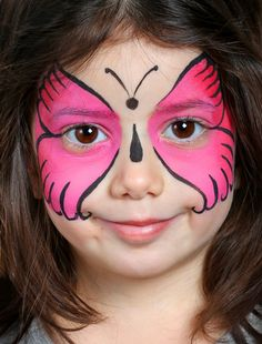Enfant maquillée Plus Maquillage Papillon Facile, Modele Maquillage Enfant,