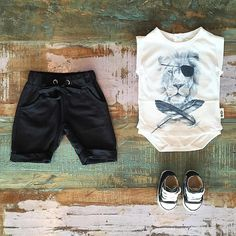BOYS • Feather Drum pirate lion onesie tee (almost sold out!), Sweet Child of Mine shorts & Converse Baby Chucks. Shop these styles at Tiny Style in Noosa & online •  www.tinystyle.com.au/Shop-Insta