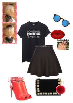 """""""Untitled #270"""" by xoxo-maneshass on Polyvore featuring Illesteva, Topshop, Tomasini, Michael Kors and Winky Lux"""
