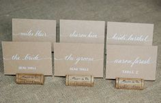 Escort Cards  Wedding Name Place Cards  by SouthernCalligraphy