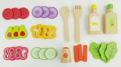 Learn Colors and Names of Fruits and Vegetables Anna Elsa Toddlers make toy salad velcro wooden food. These preschool toys are one of the best for learning colors counting numbers and sorting. We make a salad with Elsa and Anna frozen toddlers for lunch with fruits and vegetables. This is an educational learning video for babies kids infants toddlers and babies who want to learn English as a second language (ESL).  Subscribe here to never miss a video…