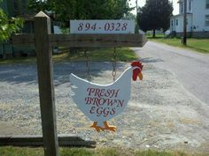 """fresh eggs for sale Eggs """"Eggs for Sale"""" sign ~ let's see yours! Pet Chickens, Raising Chickens, Chickens Backyard, Chicken Coop Signs, Building A Chicken Coop, Chicken Coops, Selling Eggs, Eggs For Sale, Farm Signs"""