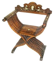 This Type Chair Is Called A Savonarola Chair, An Updated Version Of The  Roman Curule Seat. (Photo: Liveauctioneers. Com / Great American Auction)
