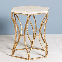 Interlude Home Roja Hexagonal Side Table