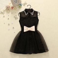 Bow Belt Waist Sleeveless Dress