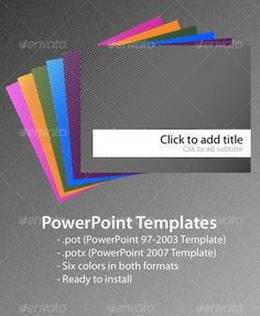 #Dots PowerPoint Templates - #Abstract #PowerPoint #Templates Download here: https://graphicriver.net/item/dots-powerpoint-templates/85554?ref=alena994