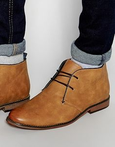 8099f2965bba2a River Island Desert Boots In Tan Faux Leather Mens Shoes Boots