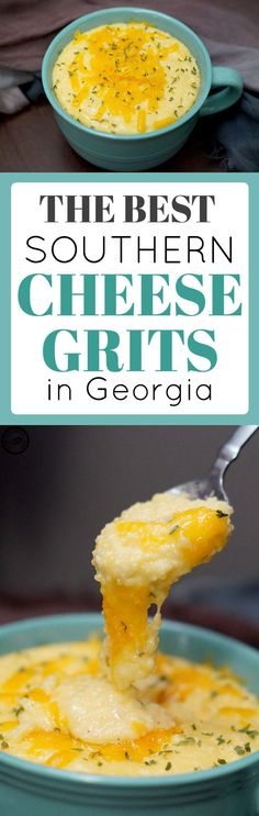 Cheese Grits are a staple at any southern table. Whether they be served alongside crispy bacon for breakfast or fried catfish for dinner, this southern cheese grits recipe is quick, simple, and delicious. Veggie Recipes, New Recipes, Cooking Recipes, Favorite Recipes, Amazing Recipes, Yummy Recipes, Recipies, Healthy Recipes, Brunch Recipes
