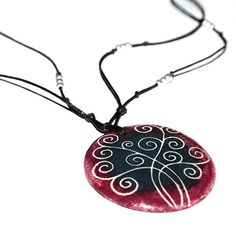 Ceramic necklace with the tree of life