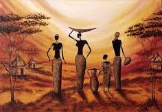 Quadros y laminas africanas
