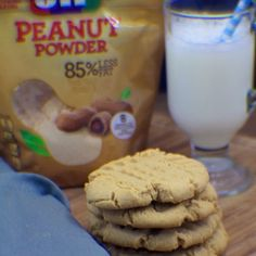 Yummy Peanut Butter Cookies made with Jif Peanut Powder