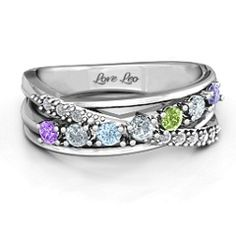 Sterling Silver Crossover Accent Multi Band Ring #jewlr