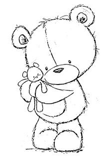 Teddy Bear Drawing Easy, Cute Bear Drawings, Art Drawings For Kids, Animal Drawings, Teddy Bear Coloring Pages, Coloring Books, Teddy Bear Crafts, Kitten Drawing, Embroidery Patterns