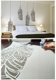 DIY wall decor: 138 great ideas for your home! DIY wall decor: 138 great ideas for your home! The post DIY wall decor: 138 great ideas for your home! appeared first on Babyzimmer ideen. Diy Wanddekorationen, Mur Diy, Homemade Wall Decorations, Yellow Crafts, Cute Wall Decor, Wooden Cubes, Wall Ornaments, Geometric Wall, Floral Wall