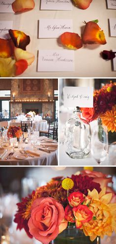 I dont plan on having a fall wedding but this is so pretty! Color inspiration for September wedding