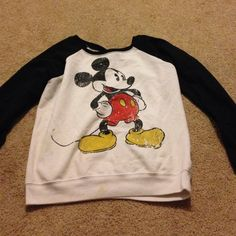 Mickey Mouse sweater In good condition, will trade Sweaters
