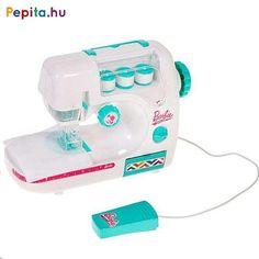 Barbie™ varrógép  Jellemzői: - játék varrógép, ami tényleges varrásra is alkalmas - 3db AA, 1,5V elemmel működik (nem tartozék) - lábpedállal hajtható - a kicsik könnyen elsajátítják a varrás tudományát - műanyag védőburkolat a tű körül, biztonságosan használható - csak megbízható, gyermekekre nem ártalmas anyagokat tartalmaz - 3 db fehér cérnával   Mérete:kb. 25x20cm Korn, Toothbrush Holder, Barbie, Barbie Dolls