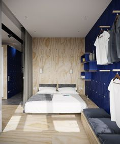 Small apartment, Moscow, 2014 - Tatyana Bobyleva #bedroom